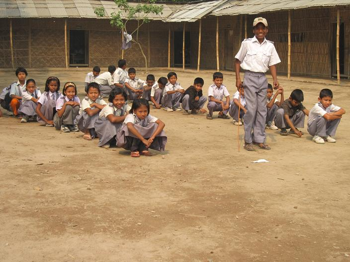 Skolegaarden med udvalgte elever