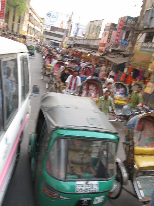 Rickshaws i Old Dhaka