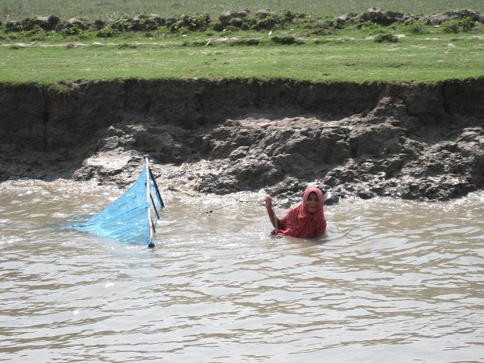 En fiskende kvinde