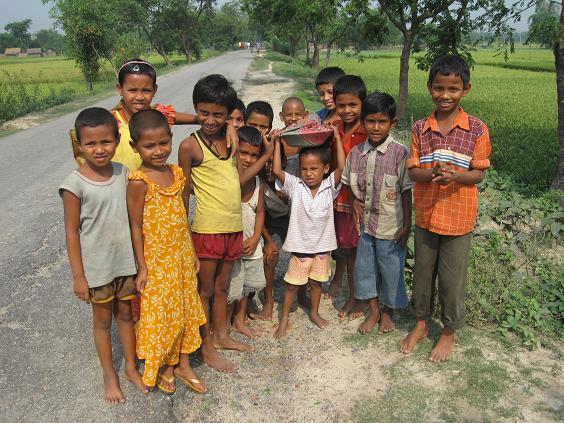 Børn på vejen
