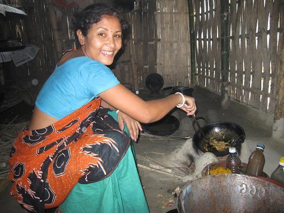 Lærer Krishna i køkkenet
