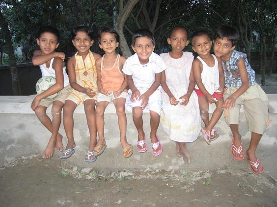 Et udsnit af byens børn