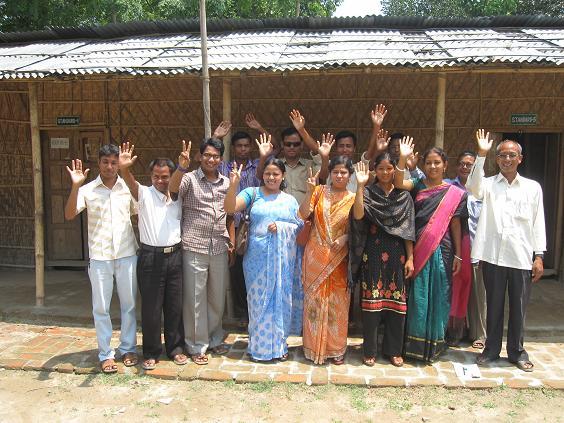 Lærerne vinker farvel til os